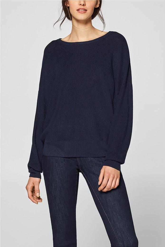 Esprit γυναικεία πλεκτή μπλούζα με φιόγκο στην πλάτη 3