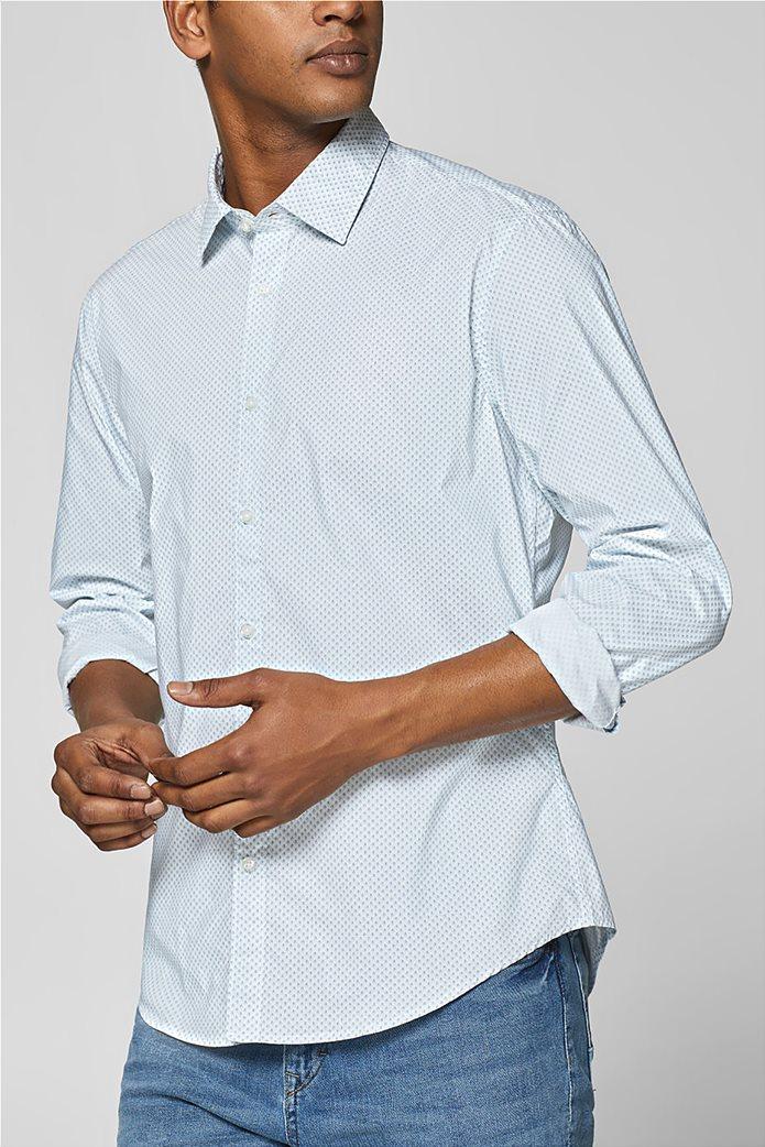 Esprit ανδρικό πουκάμισο με all-over print και τεχνολογία COOLMAX® 0