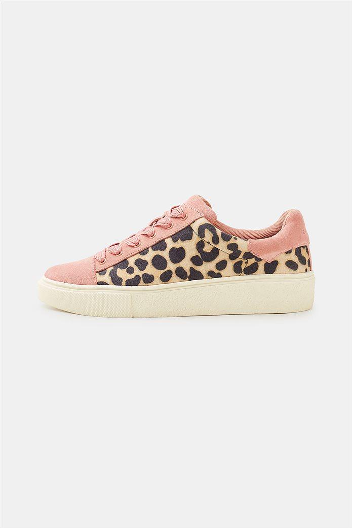 Esprit γυναικεία sneakers με leopard print 0