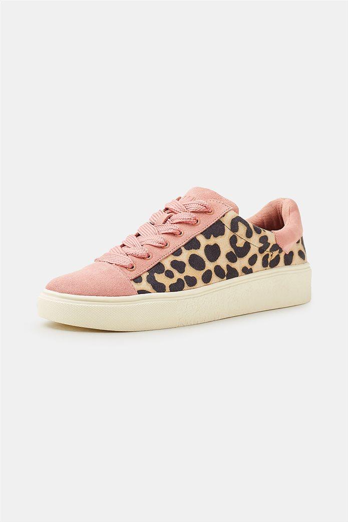 Esprit γυναικεία sneakers με leopard print 2
