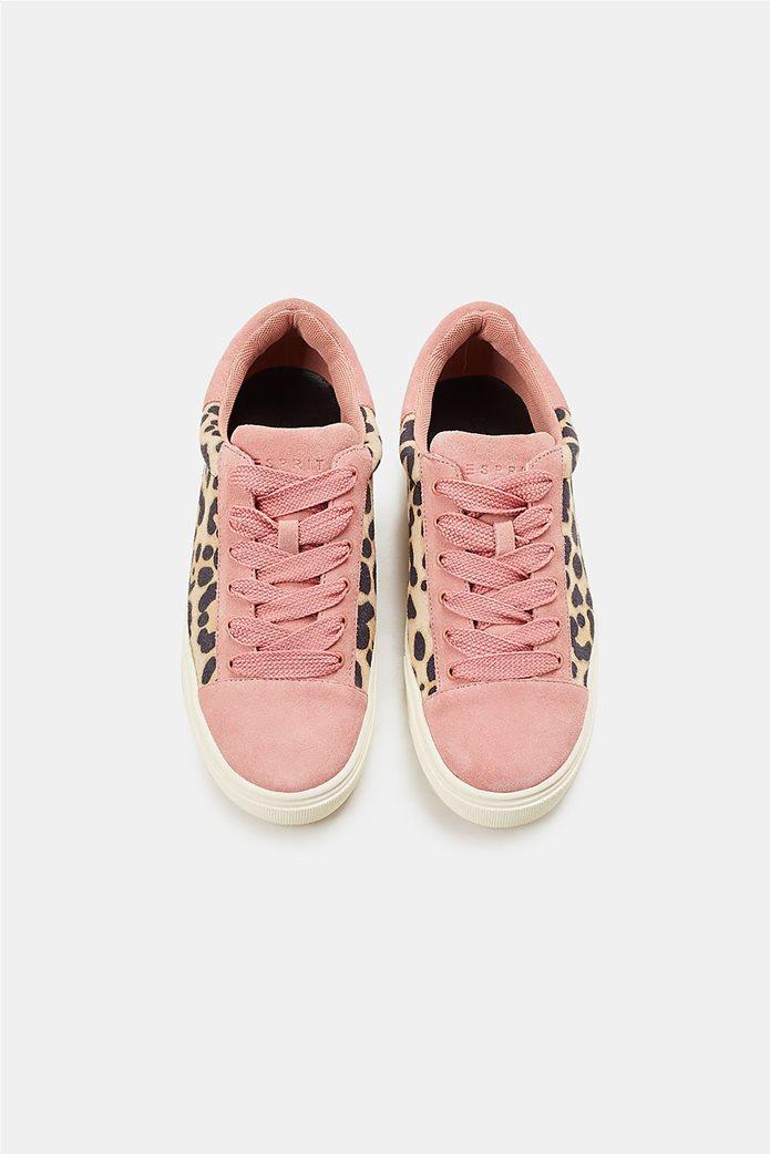 Esprit γυναικεία sneakers με leopard print 3