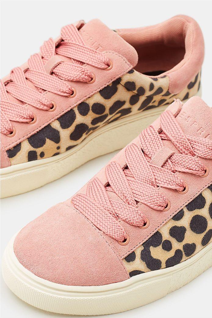 Esprit γυναικεία sneakers με leopard print 4