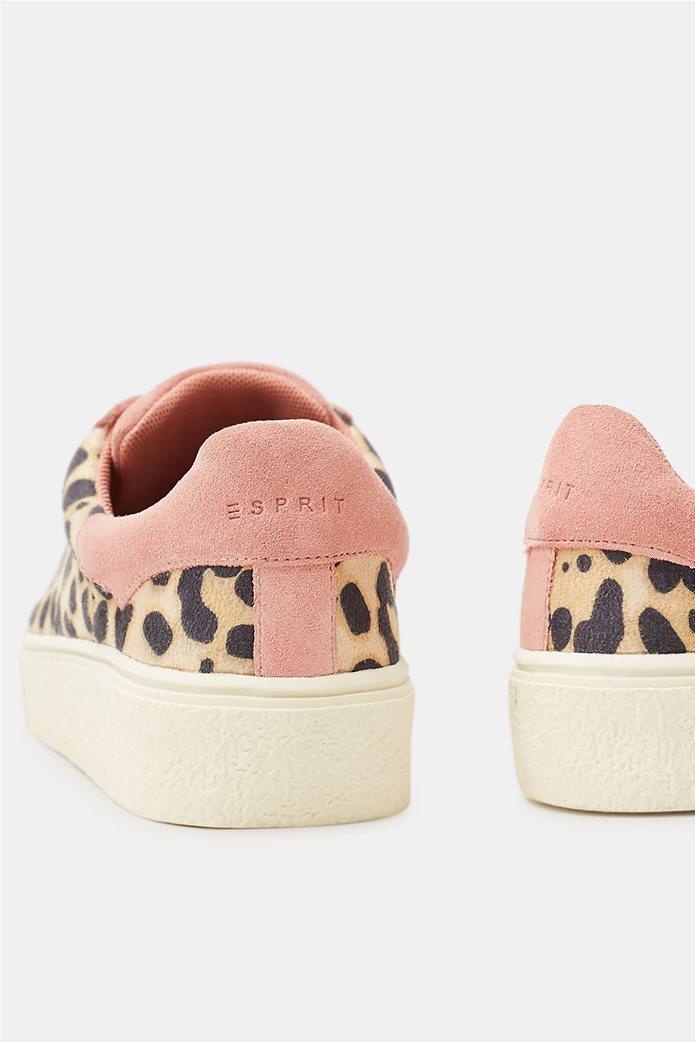 Esprit γυναικεία sneakers με leopard print 5