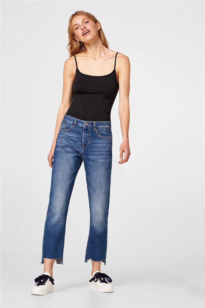 Esprit γυναικεία μπλούζα jersey μονόχρωμη με ράντες 1