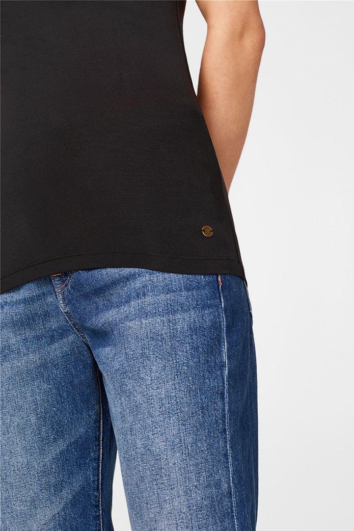 Esprit γυναικεία μπλούζα jersey μονόχρωμη με ράντες 4