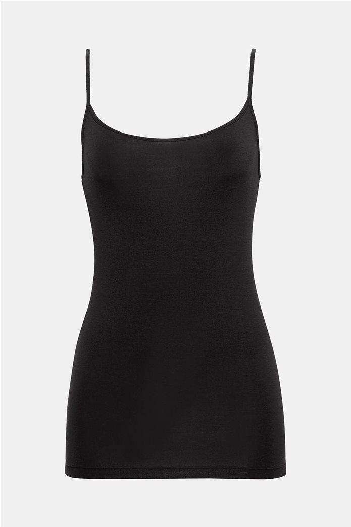 Esprit γυναικεία μπλούζα jersey μονόχρωμη με ράντες 5