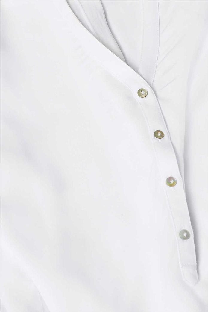 Esprit γυναικεία μακρυμάνικη μπλούζα με άνοιγμα V και κουμπιά 5