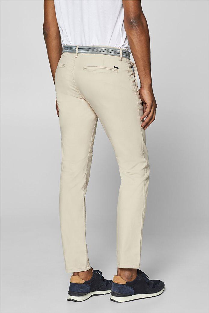 Esprit ανδρικό παντελόνι chino slim με ζώνη (32L) Μπλε Σκούρο 3