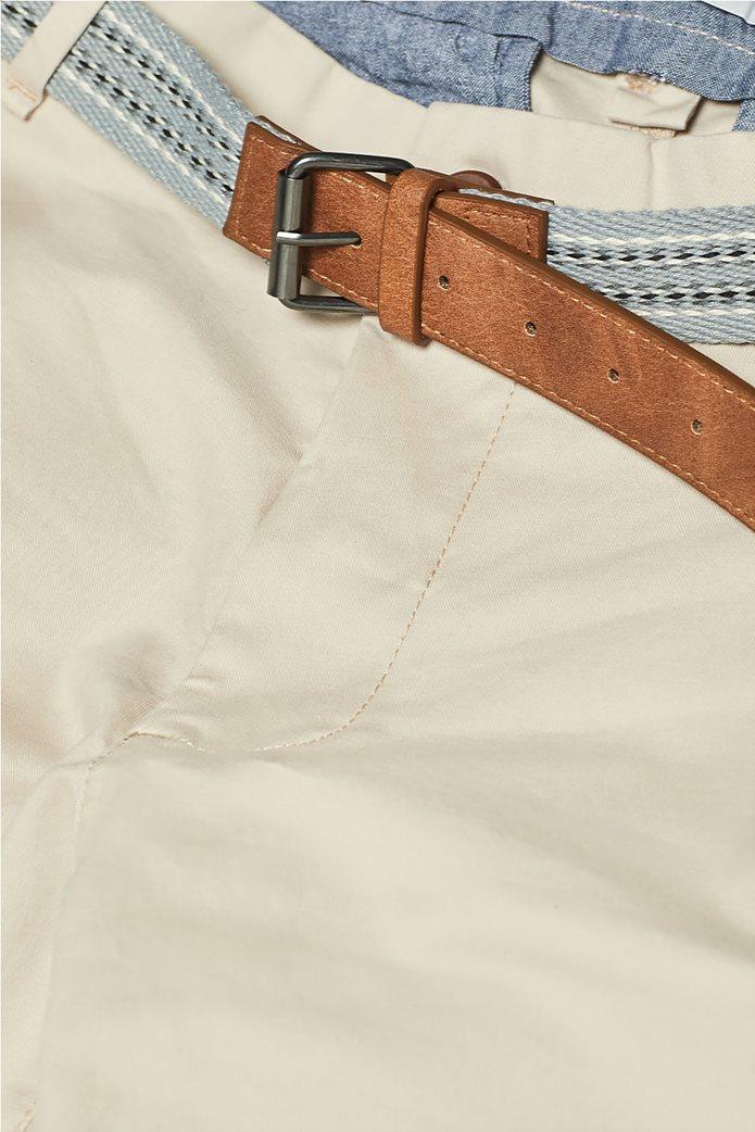 Esprit ανδρικό παντελόνι chino slim με ζώνη (32L) Μπλε Σκούρο 4