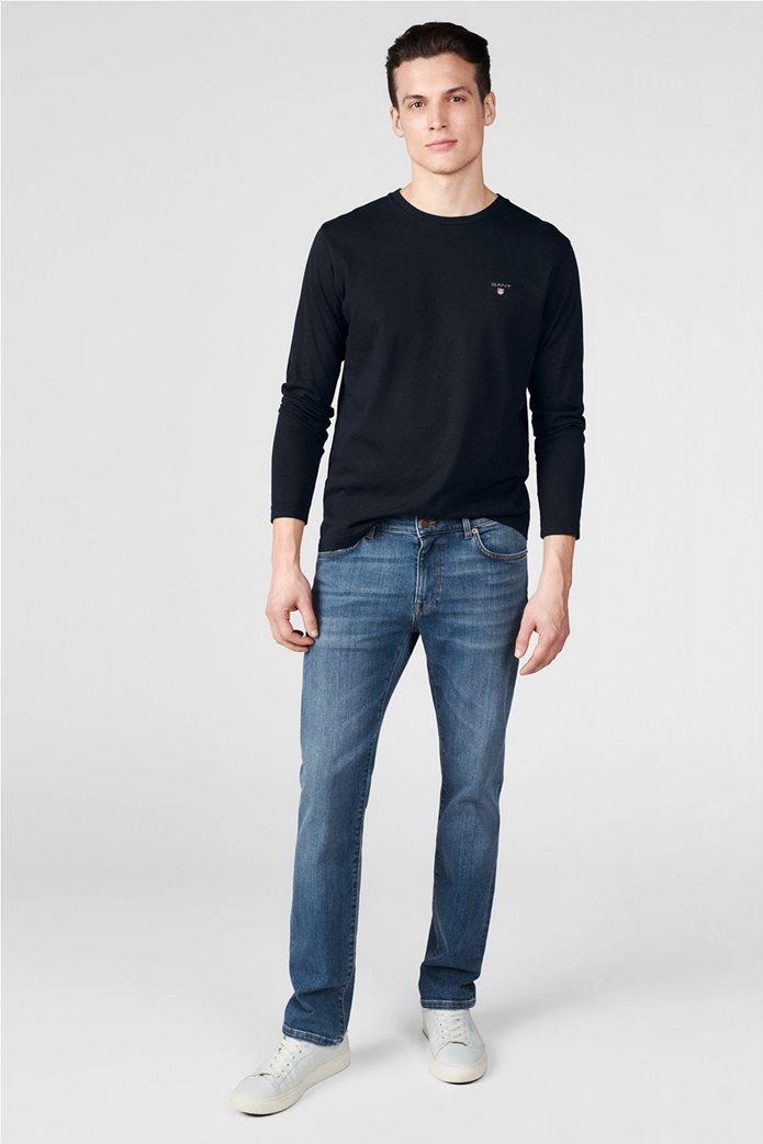 Gant ανδρικό παντελόνι τζην Slim Straight (36L) 0