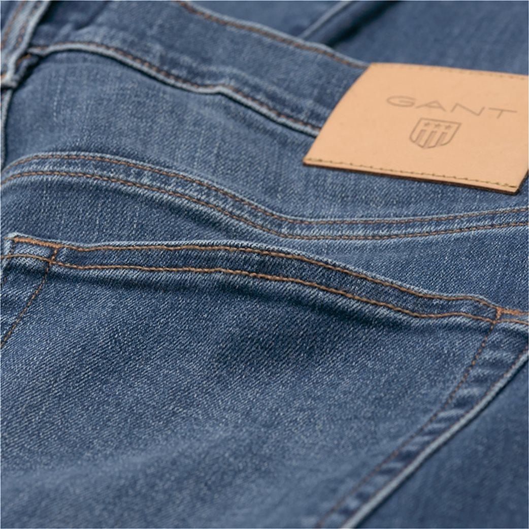 Gant ανδρικό παντελόνι τζην Slim Straight (36L) 2