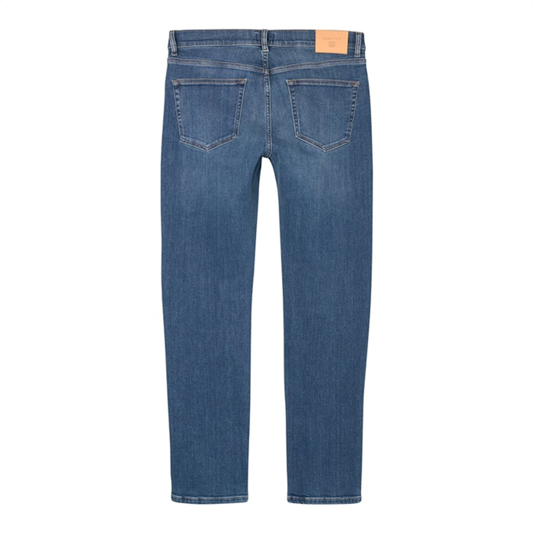 Gant ανδρικό παντελόνι τζην Slim Straight (36L) 4
