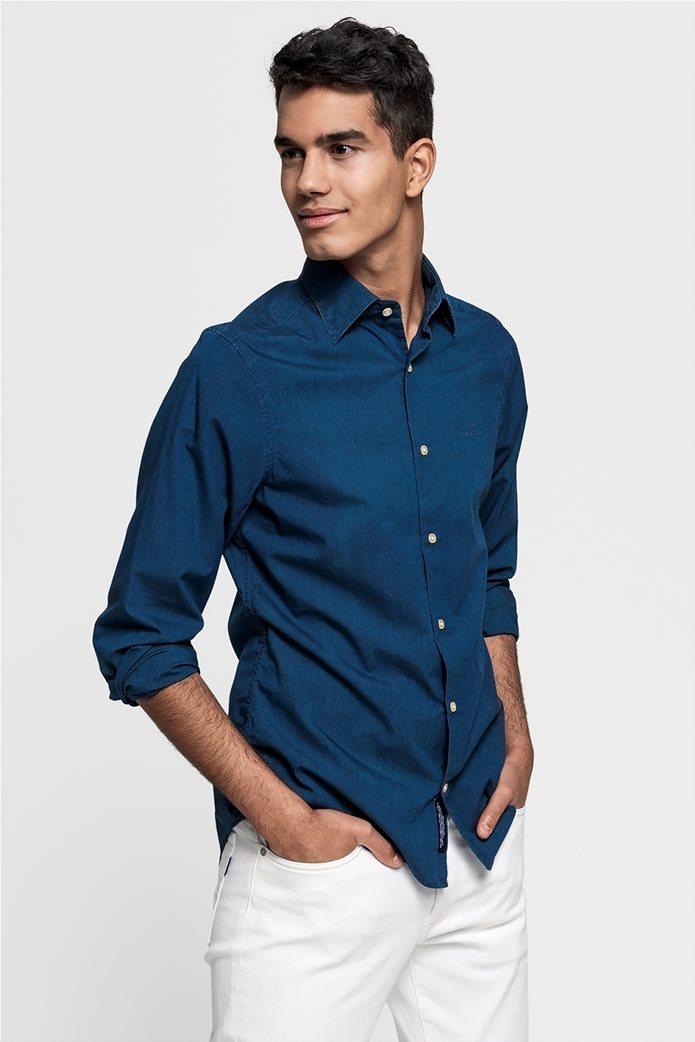 ee0de970a7c Gant ανδρικό πουκάμισο μονόχρωμο Slim Fit Tech Prep™