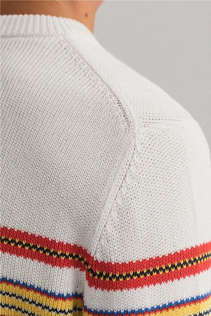 Gant ανδρική πλεκτή μπλούζα με ριγέ σχέδιο 4