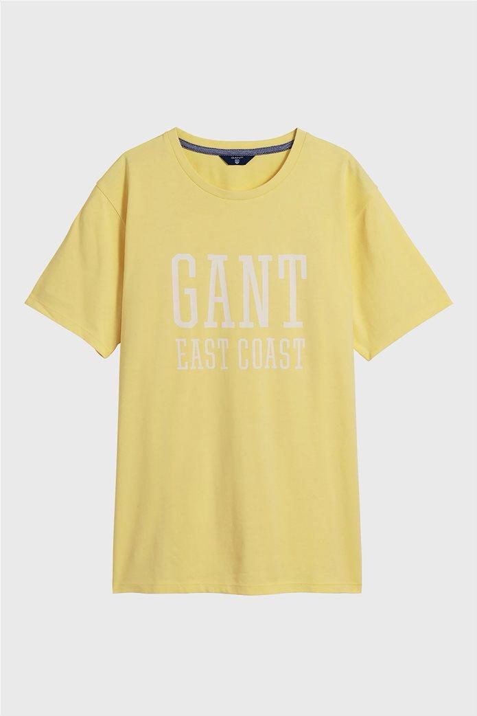 Gant παιδικό T-shirt μονόχρωμο με μεγάλο logo 0