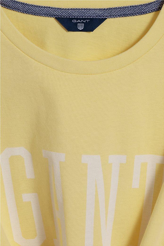 Gant παιδικό T-shirt μονόχρωμο με μεγάλο logo 1