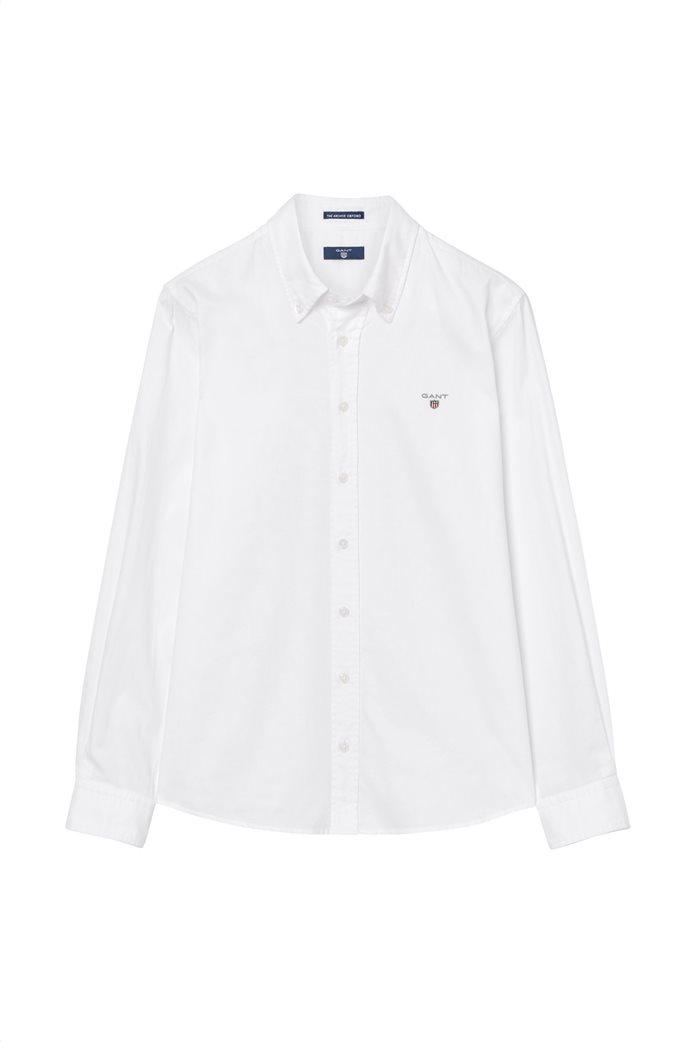 Gant παιδικό μονόχρωμο πουκάμισο 0