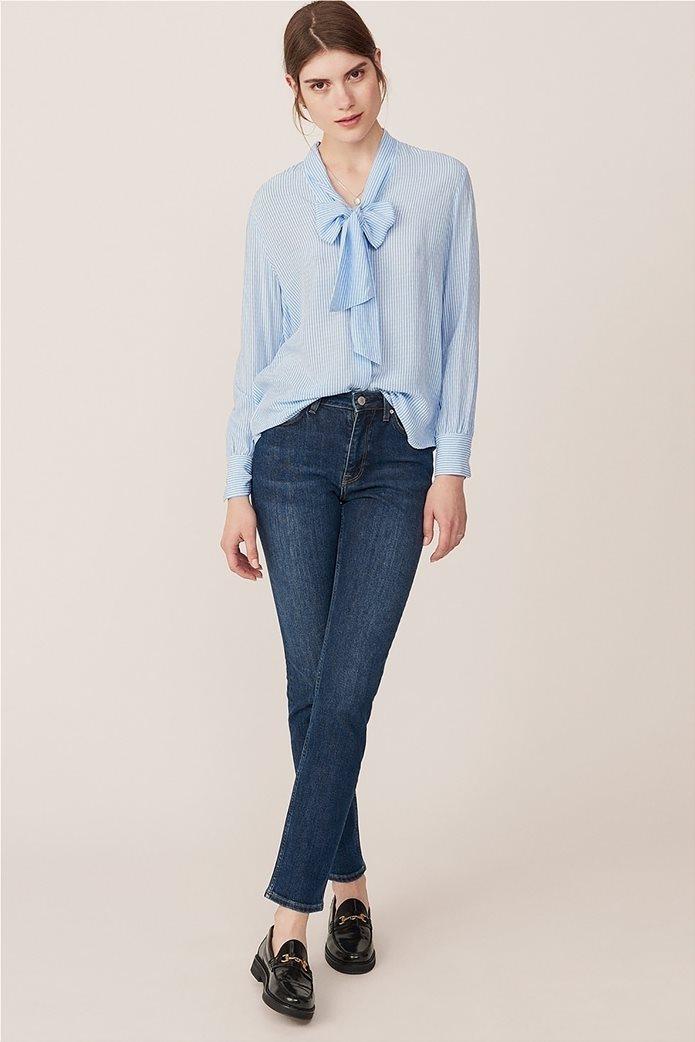 Gant γυναικείο τζην παντελόνι slim (32L) Μπλε Σκούρο 0