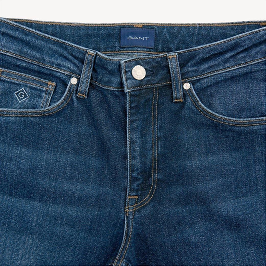 Gant γυναικείο τζην παντελόνι slim (32L) Μπλε Σκούρο 2