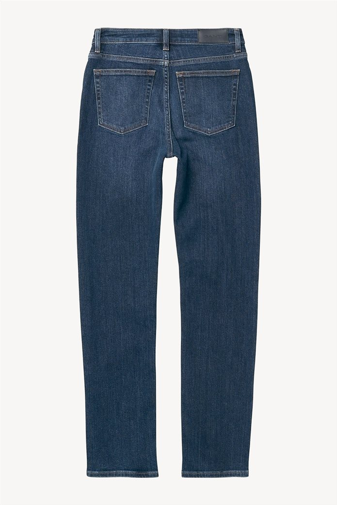 Gant γυναικείο τζην παντελόνι slim (32L) Μπλε Σκούρο 4