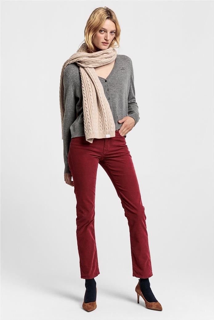 Gant γυναικείο παντελόνι κοτλέ Slim Fit Cord 1