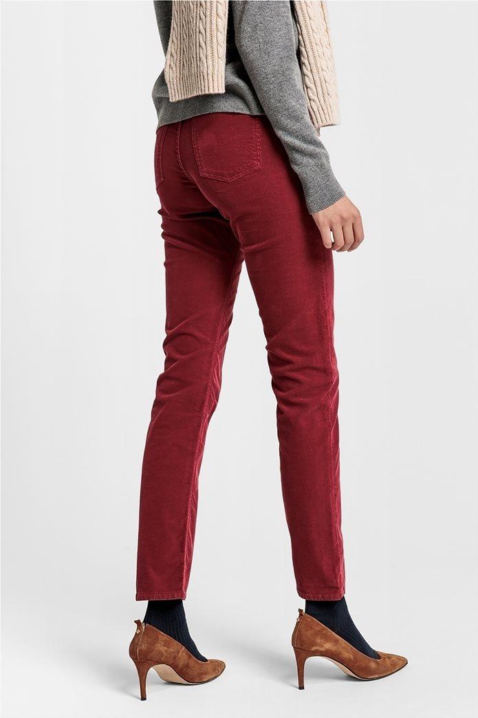 Gant γυναικείο παντελόνι κοτλέ Slim Fit Cord 2