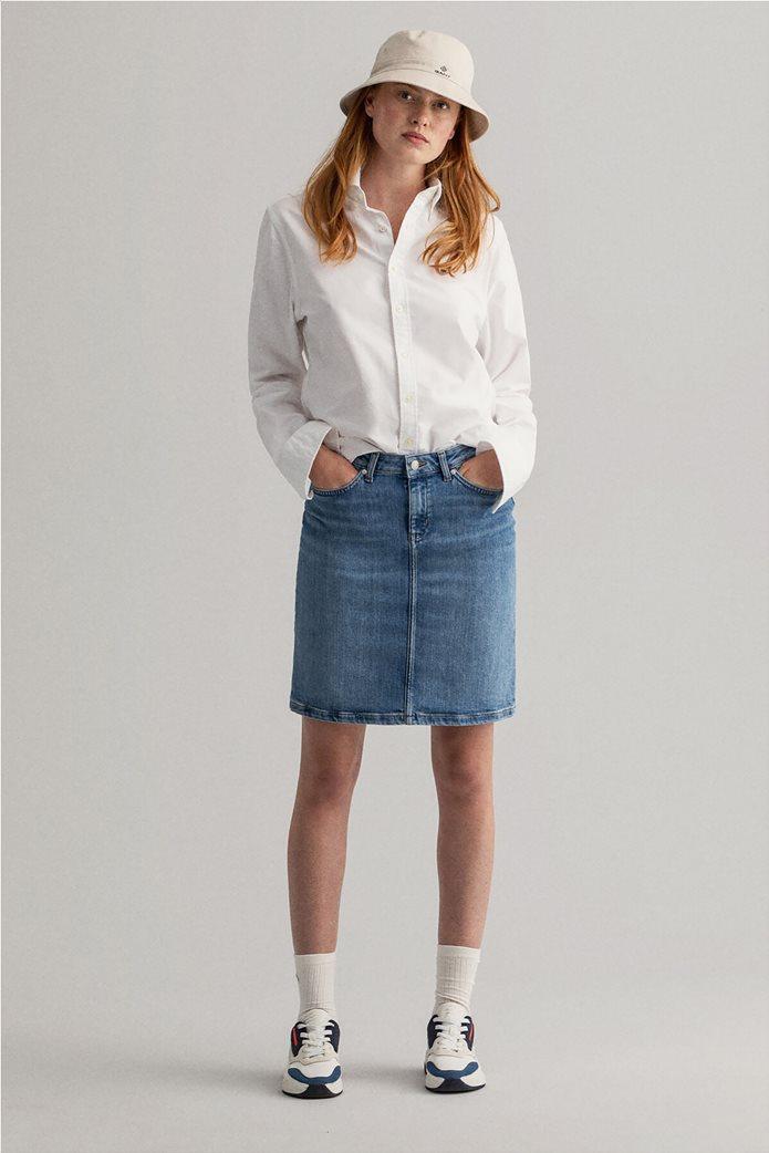 Gant γυναικεία denim φούστα πεντάτσεπη 1