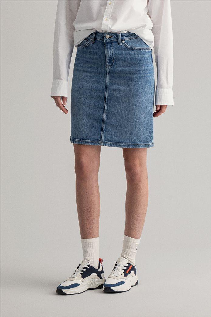 Gant γυναικεία denim φούστα πεντάτσεπη 2