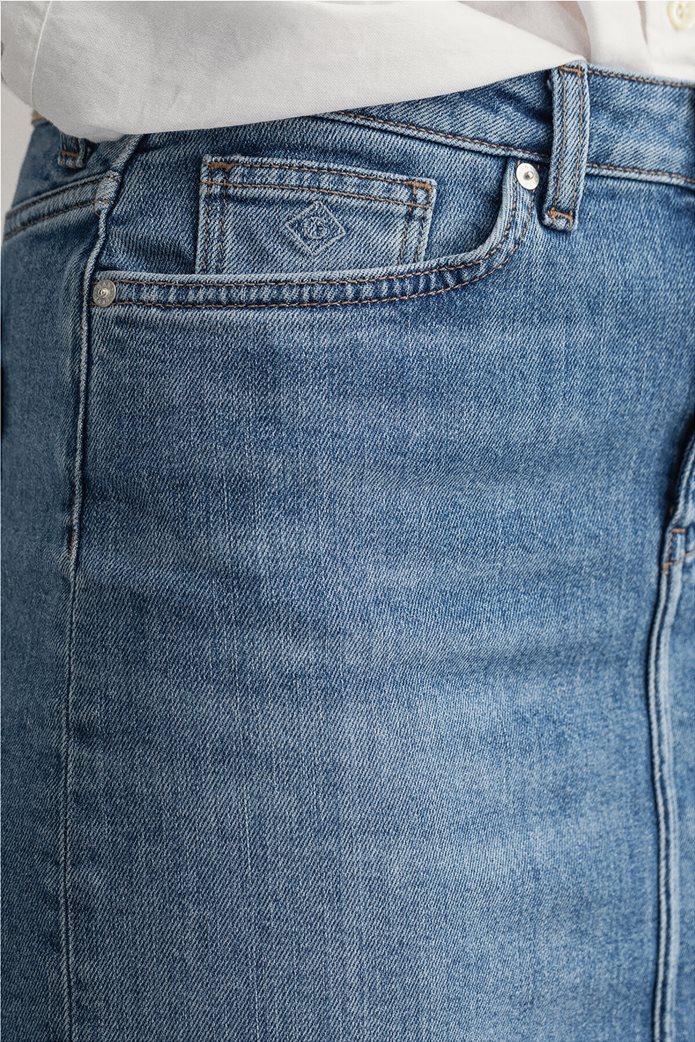 Gant γυναικεία denim φούστα πεντάτσεπη 4