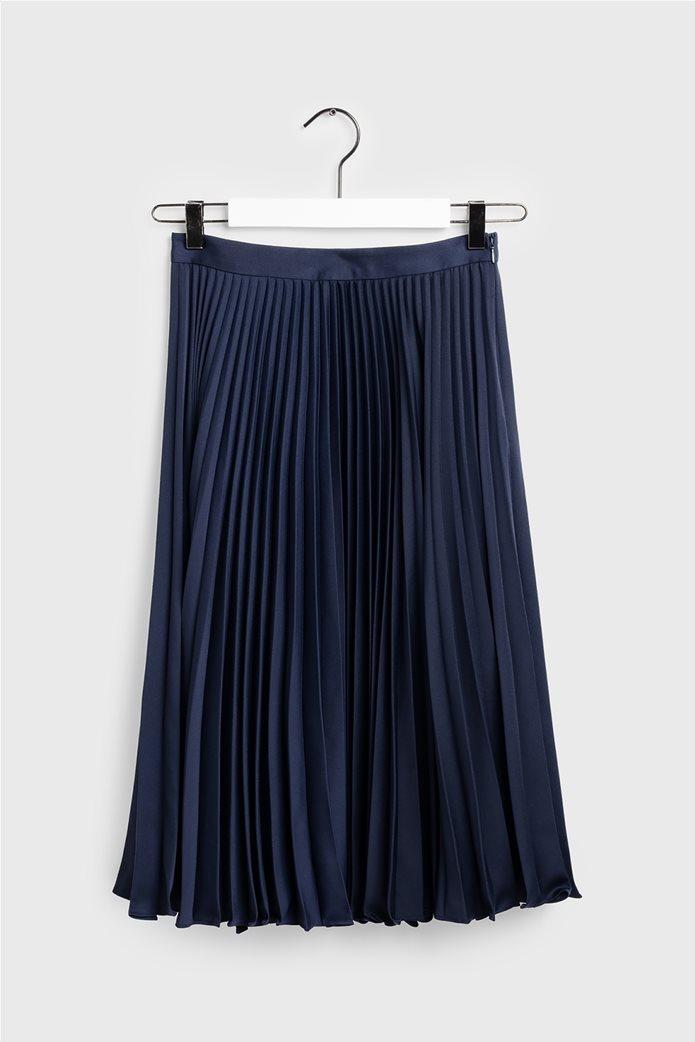 Gant γυναικεία midi φούστα πλισέ μονόχρωμη 3