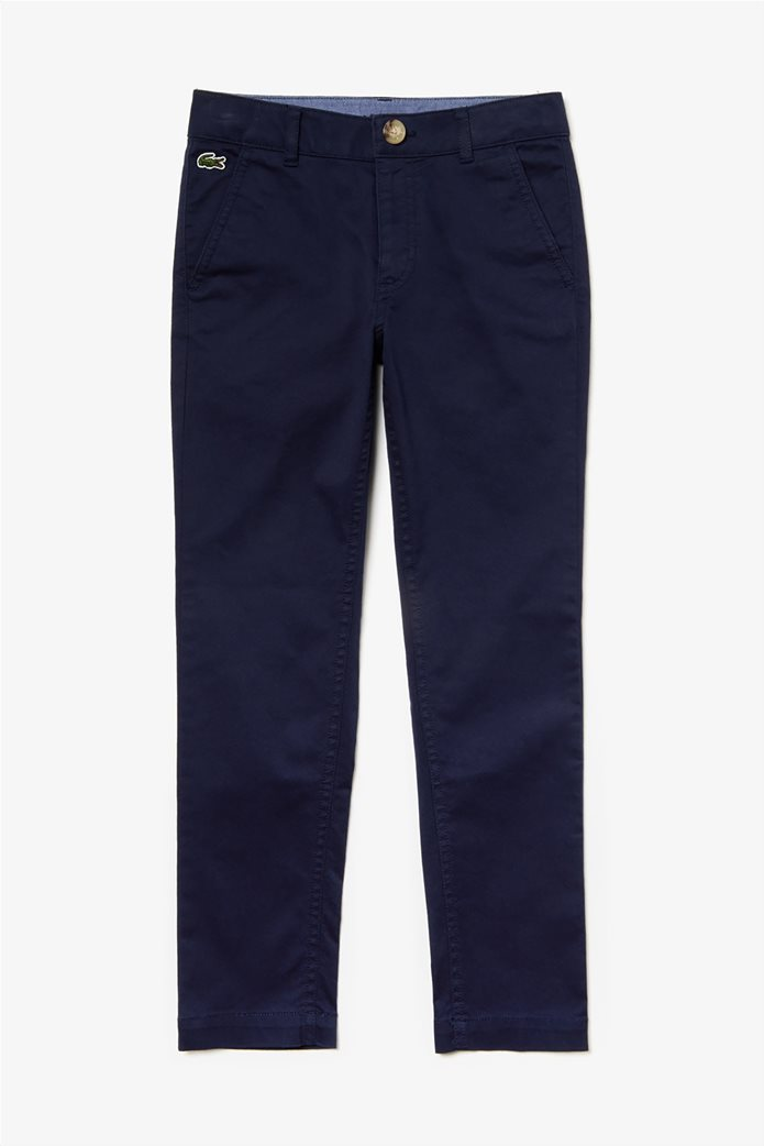 Lacoste παιδικό παντελόνι chinos Gabardine 0