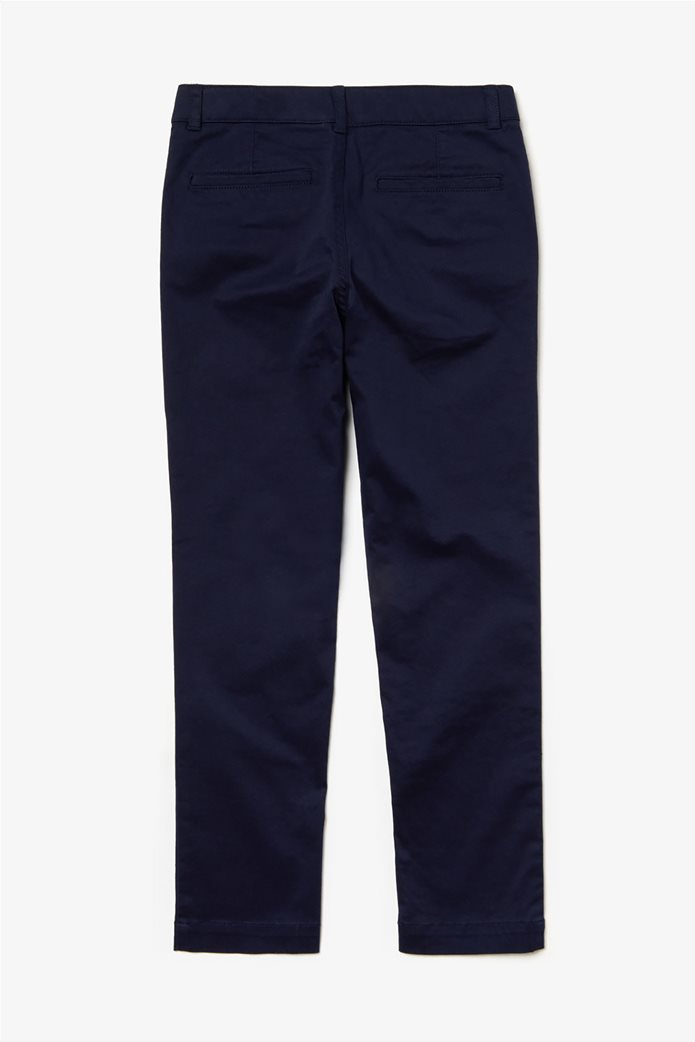 Lacoste παιδικό παντελόνι chinos Gabardine 1