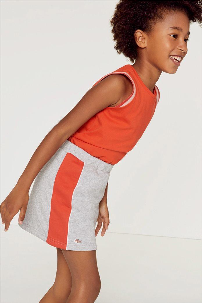 Lacoste παιδική mini φούστα με coloblocκed 0