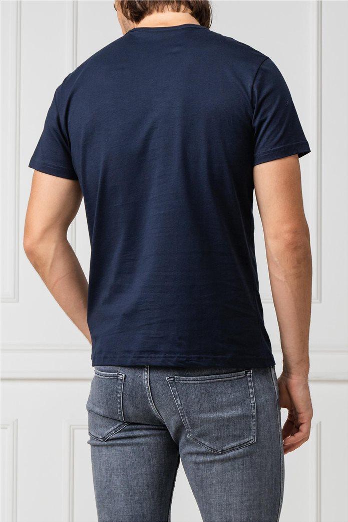 La Martina ανδρικό T-shirt με στάμπα Μπλε Σκούρο 1
