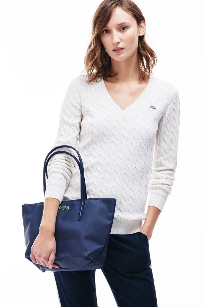 "Lacoste γυναικεία τσάντα ώμου ""Concept Small Zip Tote"" Μπλε Σκούρο 0"