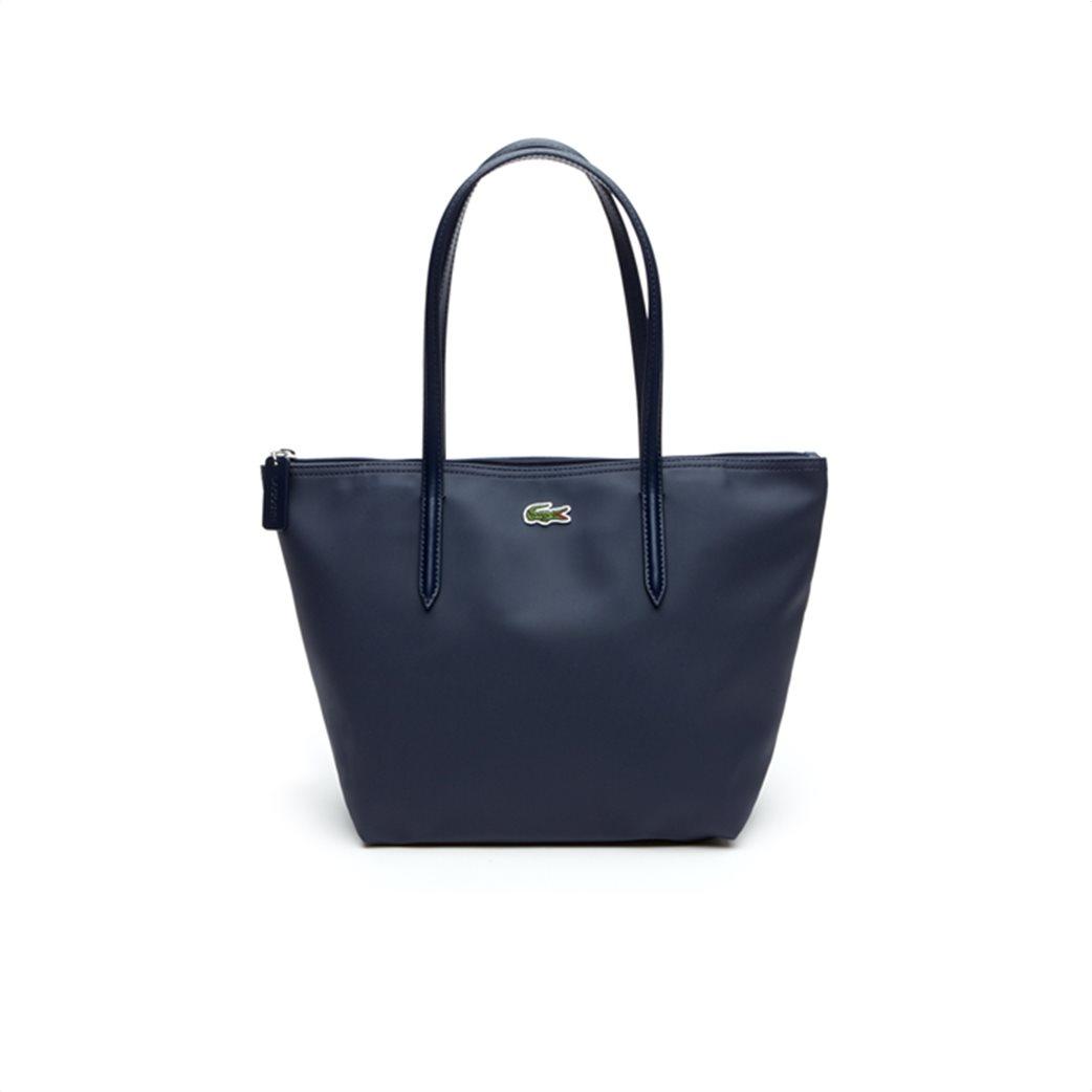 "Lacoste γυναικεία τσάντα ώμου ""Concept Small Zip Tote"" Μπλε Σκούρο 1"