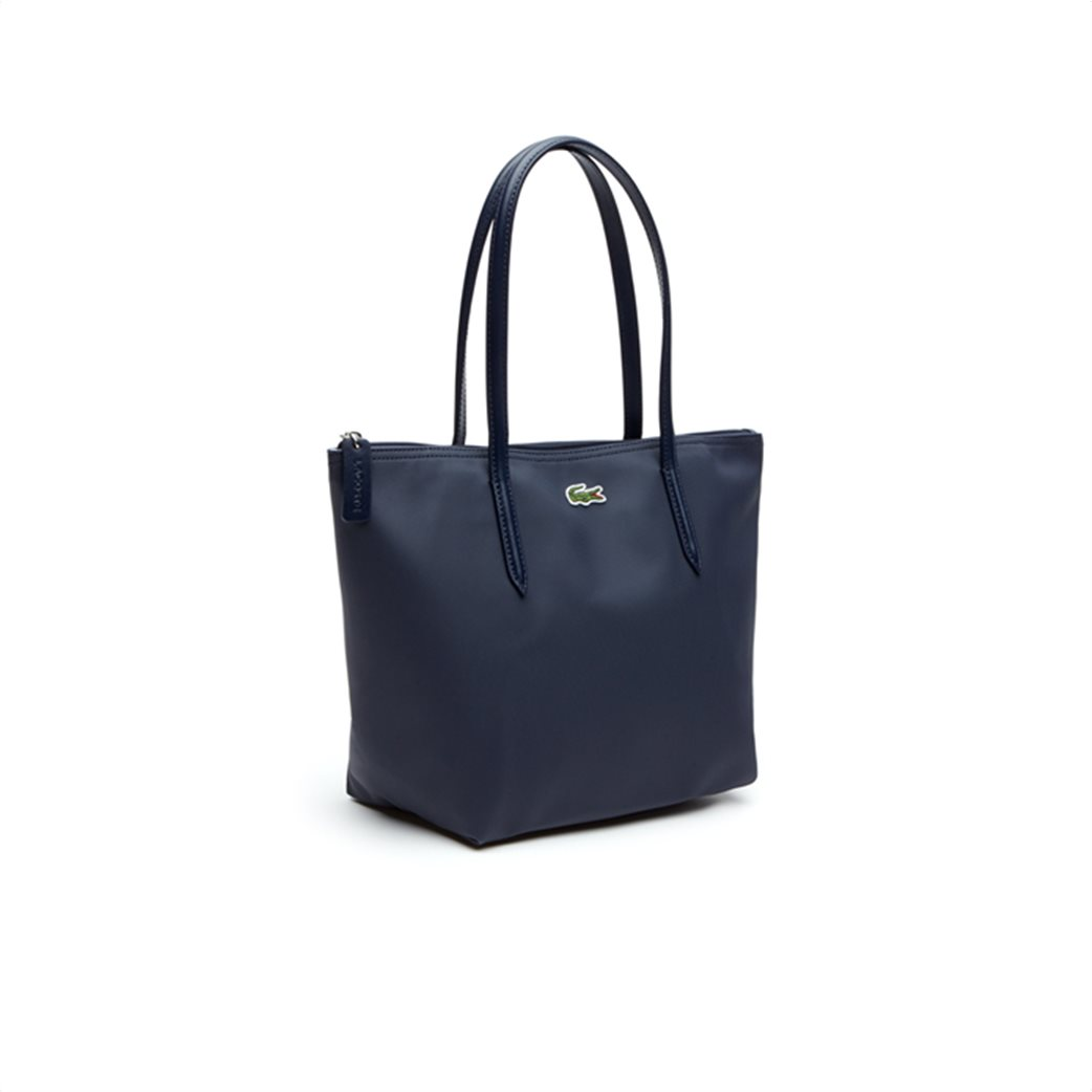 "Lacoste γυναικεία τσάντα ώμου ""Concept Small Zip Tote"" Μπλε Σκούρο 3"