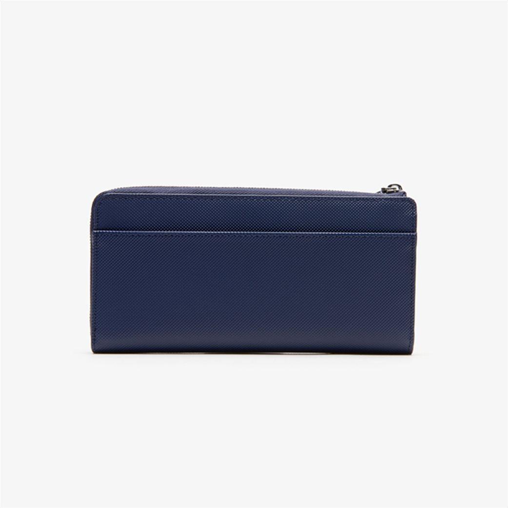 Lacoste γυναικείο πορτοφόλι ''Piqué Canvas 10 Card Zip'' Μπλε Σκούρο 1