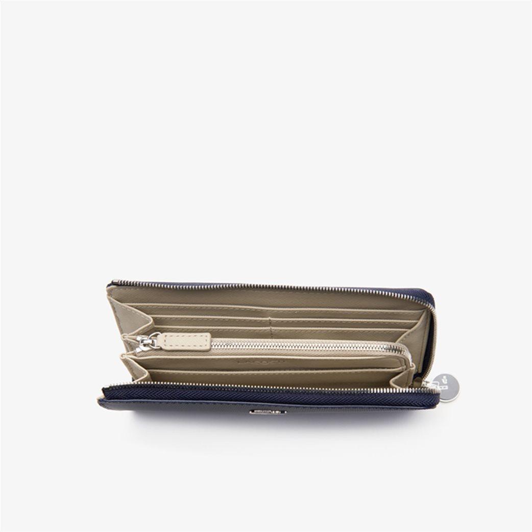 Lacoste γυναικείο πορτοφόλι ''Piqué Canvas 10 Card Zip'' Μπλε Σκούρο 2