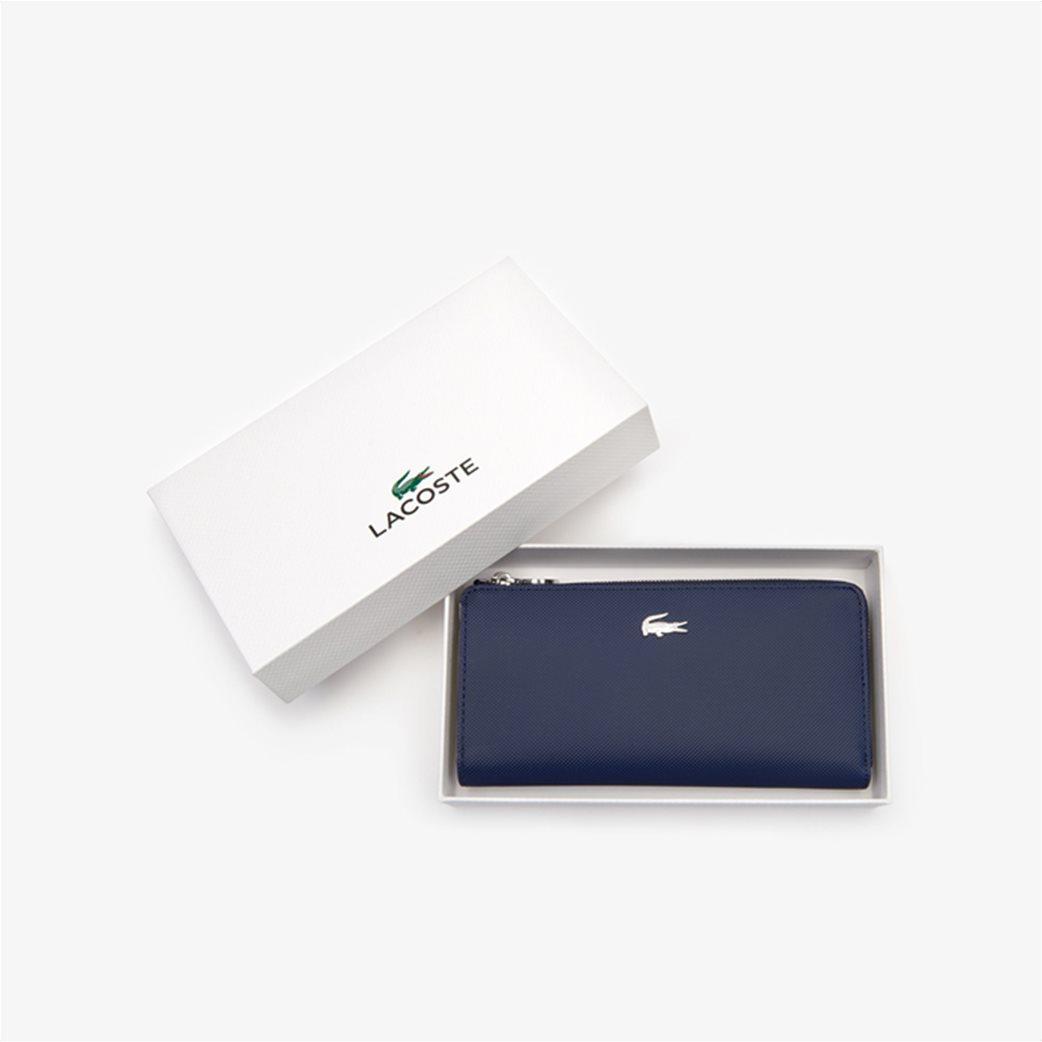 Lacoste γυναικείο πορτοφόλι ''Piqué Canvas 10 Card Zip'' Μπλε Σκούρο 3