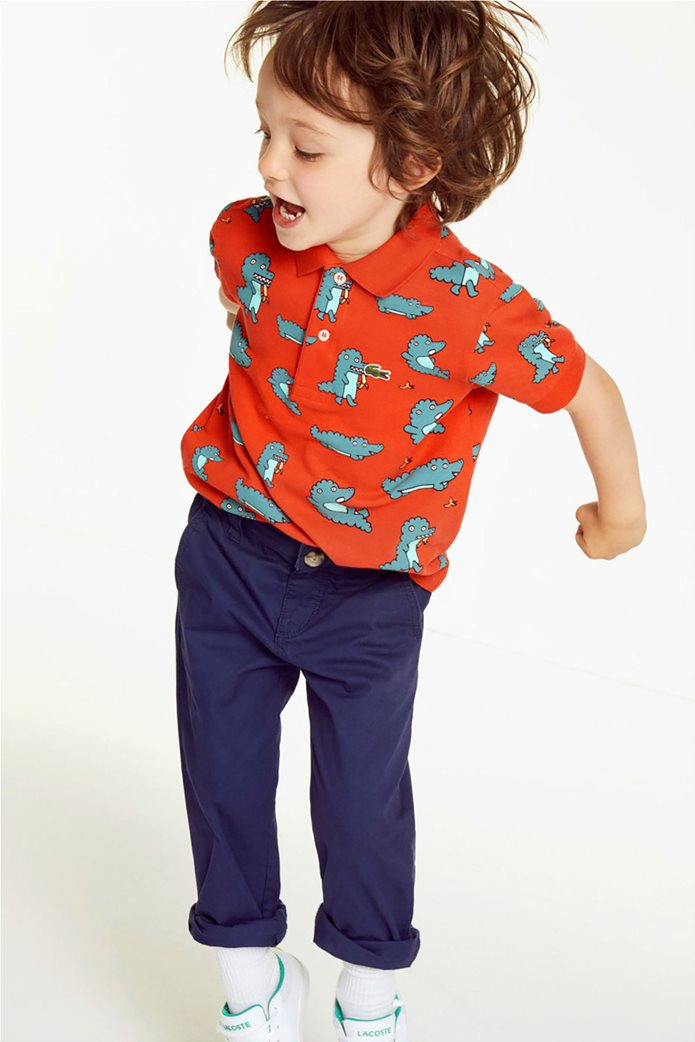 Lacoste παιδική μπλούζα πόλο με print κροκοδειλάκι 0
