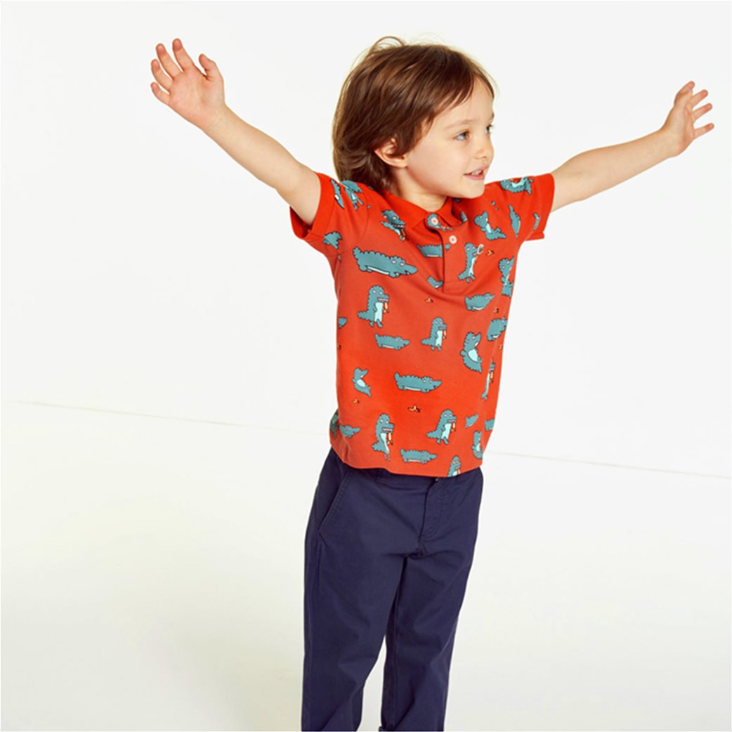Lacoste παιδική μπλούζα πόλο με print κροκοδειλάκι 1