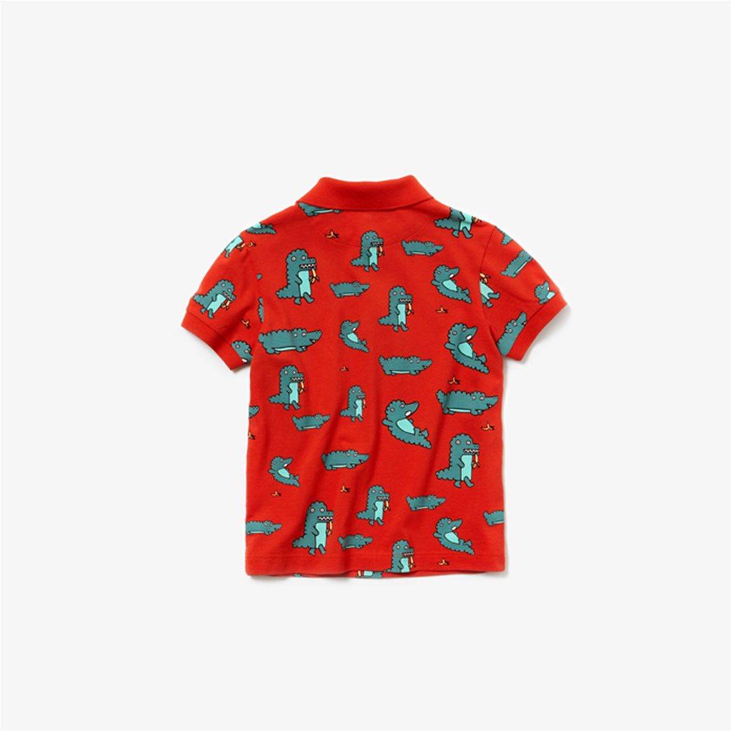 Lacoste παιδική μπλούζα πόλο με print κροκοδειλάκι 3