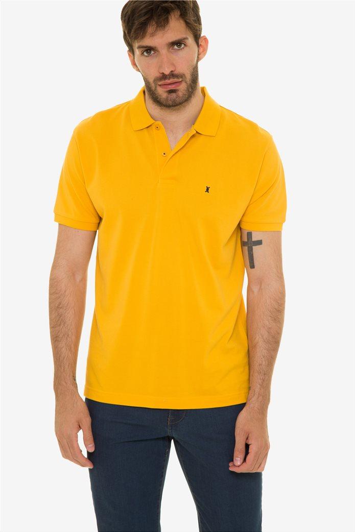 The Bostonias ανδρική μπλούζα πόλο μονόχρωμη Βεραμάν 0