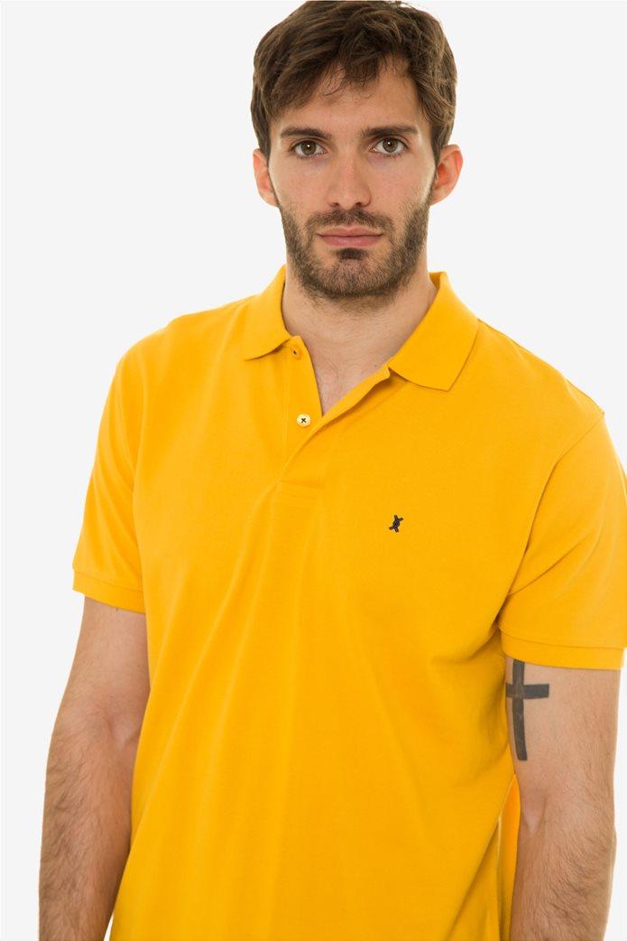 The Bostonias ανδρική μπλούζα πόλο μονόχρωμη Βεραμάν 1