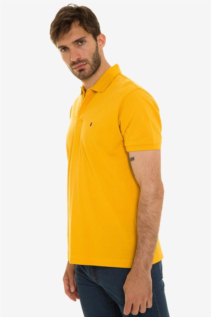 The Bostonias ανδρική μπλούζα πόλο μονόχρωμη Βεραμάν 2