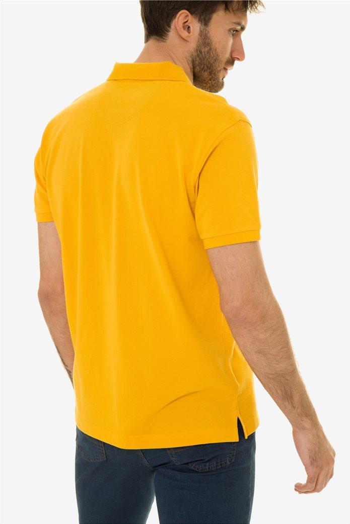 The Bostonias ανδρική μπλούζα πόλο μονόχρωμη Βεραμάν 3