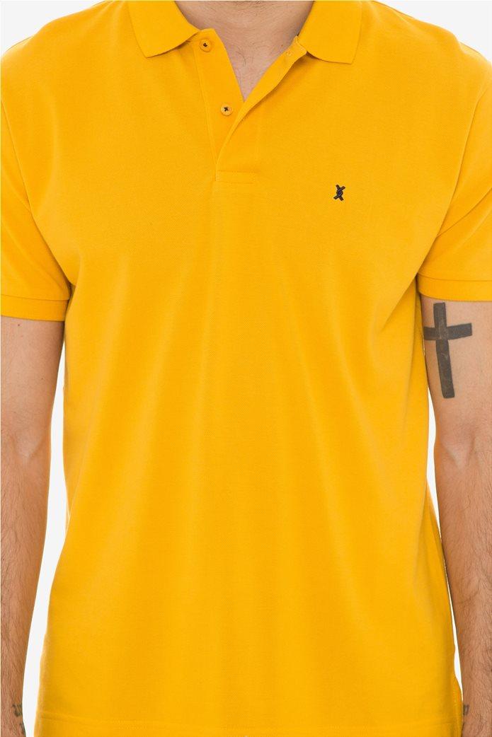 The Bostonias ανδρική μπλούζα πόλο μονόχρωμη Βεραμάν 4