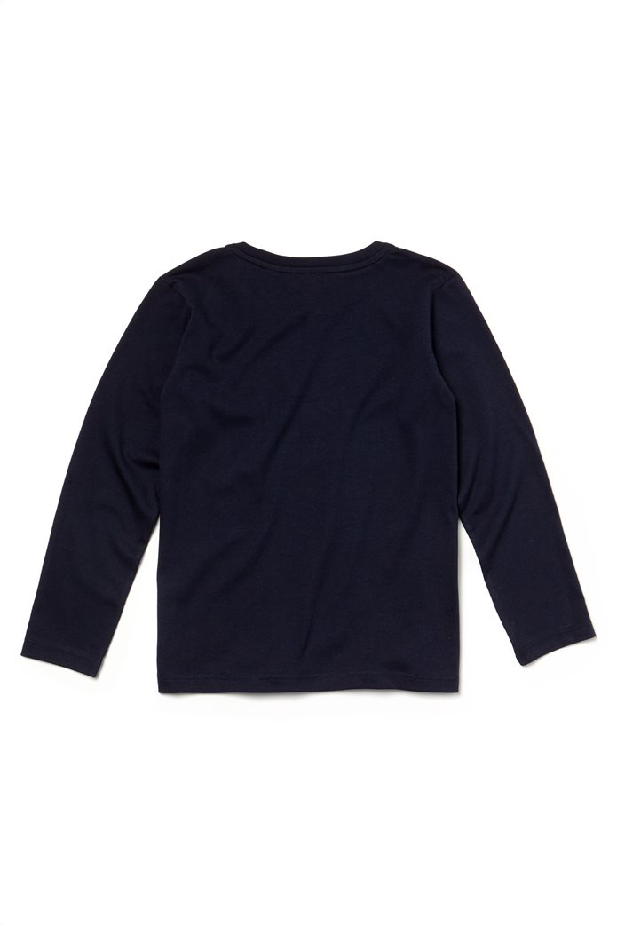 Lacoste παιδική μπλούζαμακρυμάνικη μονόχρωμη Kids Collection Μπλε Σκούρο 1