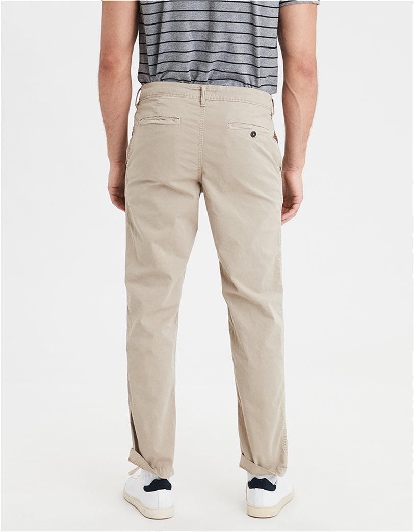 AE Ne(X)t Level Original Straight Khaki Pant Εκρού 2